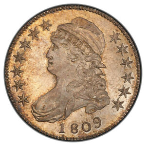 Click now to see the BUY IT NOW Price! 1809 50C III EDGE OVERTON 107 CAPPED BUST HALF DOLLAR PCGS MS65