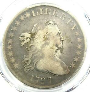 1797 DRAPED BUST SMALL EAGLE SILVER DOLLAR $1 10X6   PCGS VG DETAIL    COIN