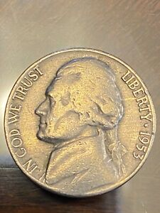 1953 D JEFFERSON NICKEL CIRCULATED