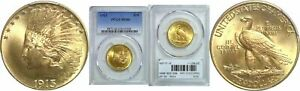 1913 $10 GOLD COIN PCGS MS 66