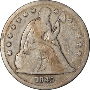 1845 SEATED LIBERTY DOLLAR NICE G DECENT EYE APPEAL NICE STRIKE
