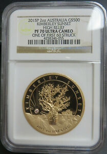Click now to see the BUY IT NOW Price! 2015 P 2OZ GOLD AUSTRALIA KIMBERLEY SUNSET HIGH RELIEF NGC PF70 ULTRA CAMEO