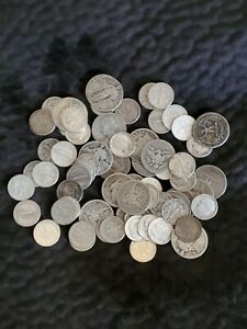 $9.80 FACE VALUE SILVER QUARTER AND DIMES   BARBER MERCURY STANDING LIBERTY
