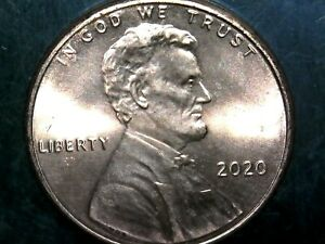 3  2020 P LINCOLN SHIELD CENTS WITH DIE CHIPS ON REVERSE SHIELD. MINT ERROR