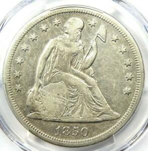 1850 O SEATED LIBERTY SILVER DOLLAR $1   PCGS XF DETAILS  EF     DATE COIN