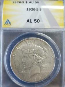 Click now to see the BUY IT NOW Price! 1926 S ANACS AU 50 PEACE SILVER DOLLAR SHIPS FREE