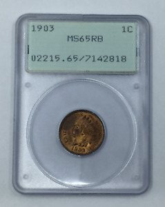 1903 P INDIAN HEAD CENT MS65RB PCGS CERTIFIED MS65 RB OGH 1C
