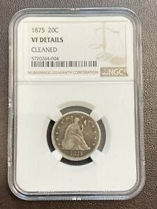 1875 TWENTY CENT PIECE VF DETAILS NGC  CLEANED