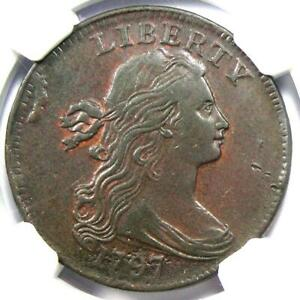 1797 DRAPED BUST LARGE CENT 1C COIN   CERTIFIED NGC XF DETAILS  EF     DATE