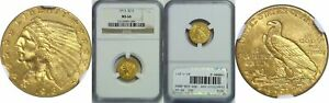 1913 $2.50 GOLD COIN NGC MS 64