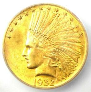 1932 INDIAN GOLD EAGLE $10 COIN   CERTIFIED ICG MS62  BU UNC     GOLD COIN