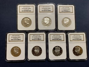 Click now to see the BUY IT NOW Price! 7 PIECES OF KENNEDY 50C NGC PF70 ULTRA CAMEO 1999 2007 CLAD THE REST SILVER