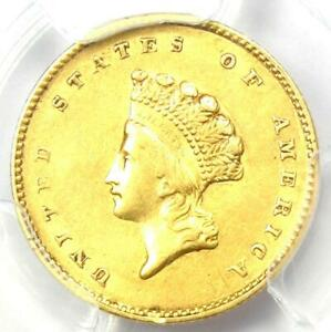 1855 TYPE 2 INDIAN GOLD DOLLAR  G$1 COIN    CERTIFIED PCGS AU DETAILS