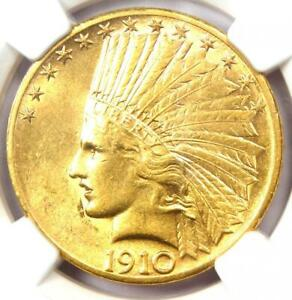 1910 S INDIAN GOLD EAGLE $10 COIN   CERTIFIED NGC AU55    GOLD COIN