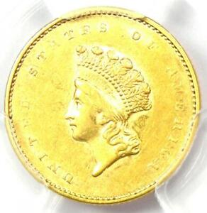 1855 TYPE 2 INDIAN GOLD DOLLAR  G$1 COIN    CERTIFIED PCGS AU55