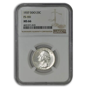 Click now to see the BUY IT NOW Price! 1937 WASHINGTON QUARTER MS 66 NGC  DDO FS 101    SKU225237