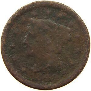 UNITED STATES LARGE CENT 1848 A07 329