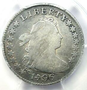 1796 DRAPED BUST DIME 10C COIN   CERTIFIED PCGS FINE DETAIL   FIRST DIME MINTED