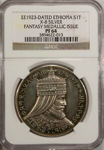 Click now to see the BUY IT NOW Price! ETHIOPIA 1 TALARI  EE 1923  NGC PF 64  UNC  X   8    SILVER
