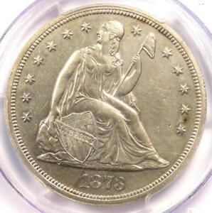 1873 PROOF SEATED LIBERTY SILVER DOLLAR $1 COIN   PCGS PROOF DETAILS  PR/PF