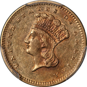 Click now to see the BUY IT NOW Price! 1858 S TYPE 3 INDIAN PRINCESS GOLD $1 PCGS AU50 NICE EYE APPEAL NICE STRIKE