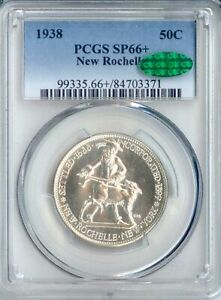 Click now to see the BUY IT NOW Price! 1938 NEW ROCHELLE SILVER COMMEMORATIVE SP66  PCGS CAC  PA84703371