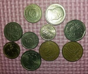 LOT 5 OF 10 MIXED VINTAGE WORLD COINS   BARGAIN