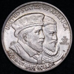 1924 HUGUENOT COMMEM HALF DOLLAR CHOICE BU  E637 APR