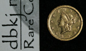 1853 GOLD DOLLAR $1   LIBERTY HEAD   TYPE 1   EXTRA FINE   DETAILS   CLEANED
