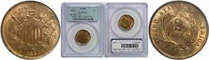 Click now to see the BUY IT NOW Price! 1864 SMALL MOTTO TWO CENT PIECE PCGS MS 65 RD
