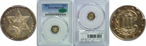 1870 SILVER THREE CENT PIECE PCGS PR 64 CAM CAC