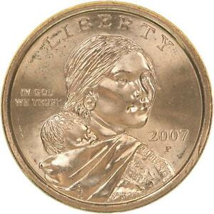 2007 P NATIVE AMERICAN SACAGAWEA BU DOLLAR US MINT COIN