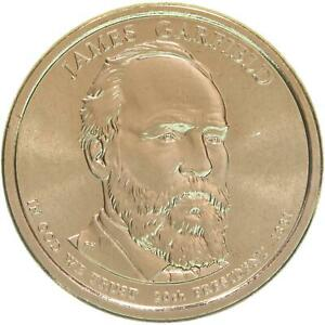 2011 P PRESIDENTIAL DOLLAR JAMES GARFIELD BU CLAD US COIN