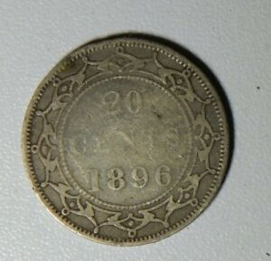 1896 NEWFOUNDLAND SILVER 20 CENTS TYPE COIN