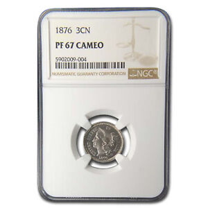 Click now to see the BUY IT NOW Price! 1876 THREE CENT NICKEL PF 67 CAMEO NGC   SKU195246