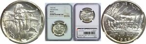1928 OREGON TRAIL SILVER COMMEMORATIVE NGC MS 66