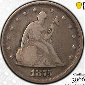 1875 P 20 CENT PIECE PCGS VG10  ONLY 4 500 REMAIN