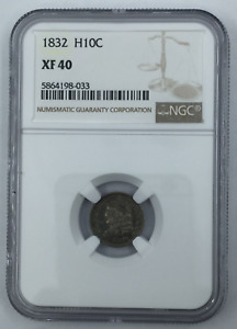 1832 P CAPPED BUST HALF DIME XF 40 NGC CERTIFIED XF40 SILVER H10C COIN