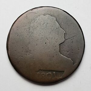 1801 DRAPED BUST LARGE CENT S 223 LDS CUD