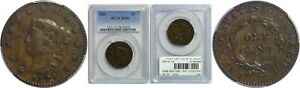 1821 LARGE CENT PCGS XF 45