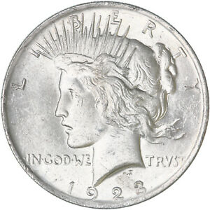 1923 PEACE SILVER DOLLAR UNCIRCULATED US MINT COIN SEE PICS E976