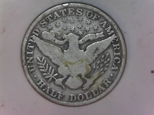 1906 P BARBER HALF DOLLAR VG CONDITION   04