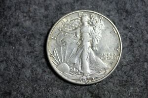 ESTATE FIND 1942    SPLIT PLAN ERROR  WALKING LIBERTY HALF DOLLAR    J17511