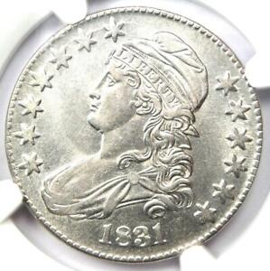 1831 CAPPED BUST HALF DOLLAR 50C O 111   CERTIFIED NGC AU55    COIN