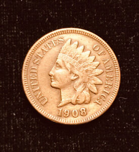 1908 INDIAN HEAD PENNY CENT CHOICE CLOSE TO AU