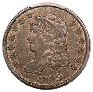 1829 H10C CAPPED BUST HALF DIME PCGS XF40 LM2 R1