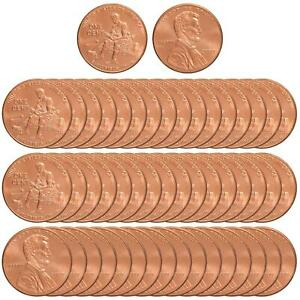 2009 LINCOLN FORMATIVE YEARS 2 CENT BU ROLL 50 US COIN LOT