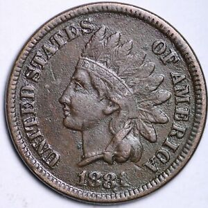 VF DETAIL 1881 INDIAN HEAD CENT PENNY