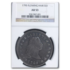 1795 FLOWING HAIR DOLLAR AU 53 NGC   SKU179616