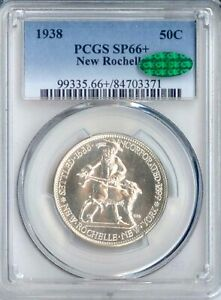 1938 NEW ROCHELLE SILVER COMMEMORATIVE SP66  PCGS CAC  PA84703371